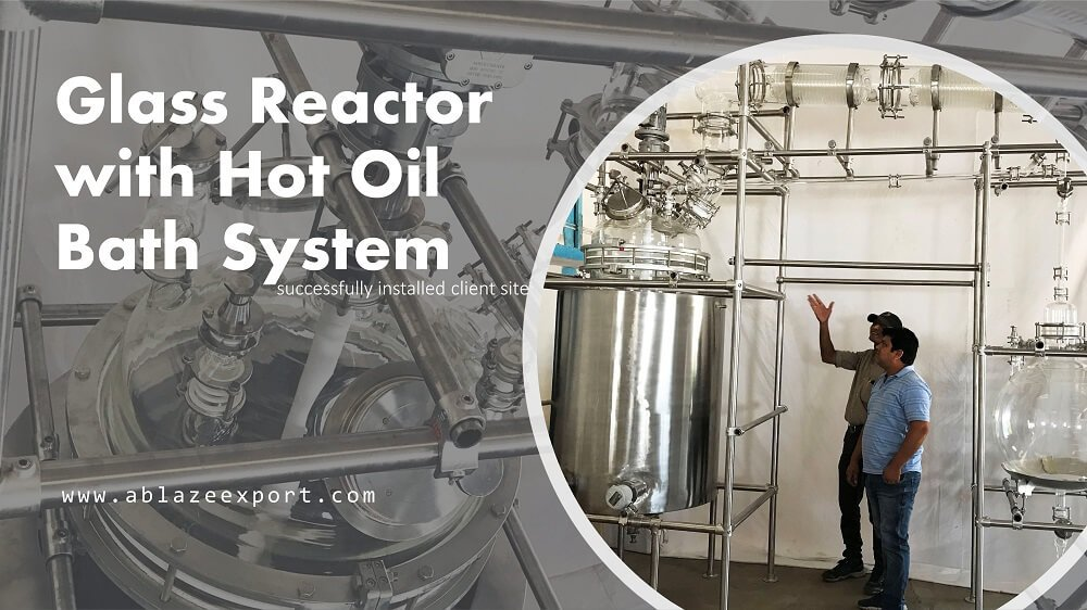 Glass Reactor with Hot Oil Bath System