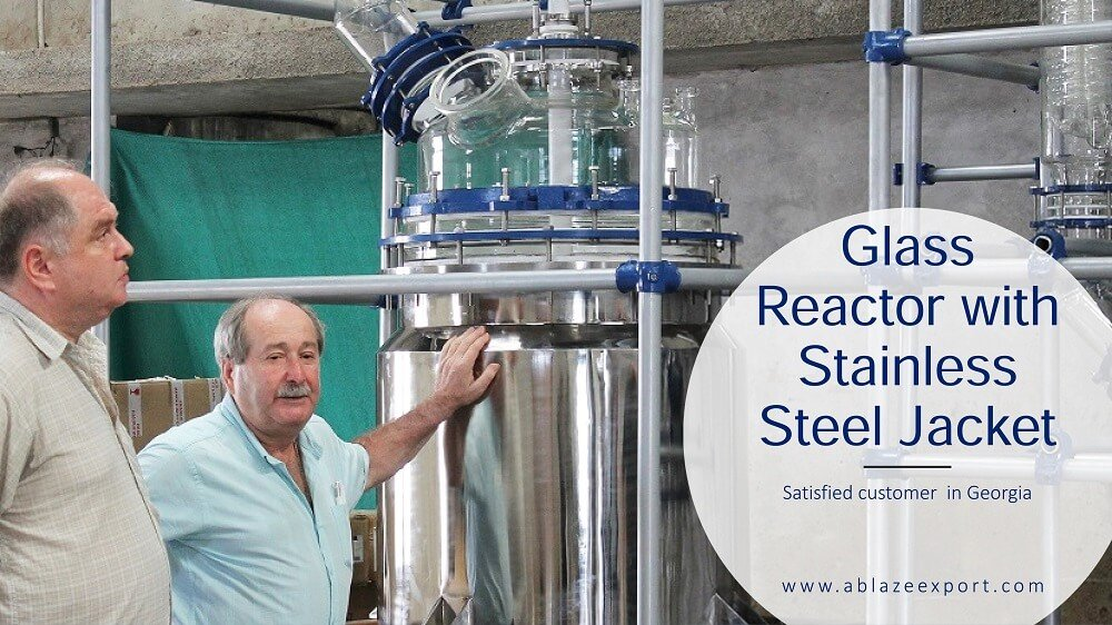 Glass Reactor with Stainless Steel Jacket